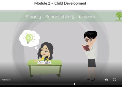 screenshot of module 2 of online safeguarding training course